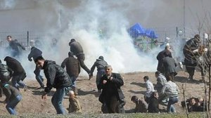 tear gas attack