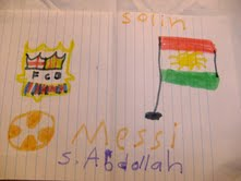 Kurdish boy's drawing