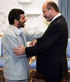 Salih greets Iran President Ahmadinejad