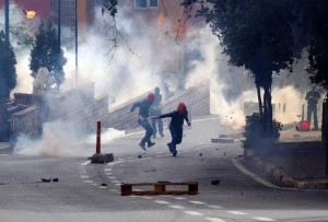 Tear gas attack on protestors today in Istanbul
