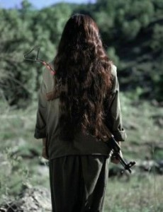PKK woman guerilla fighter