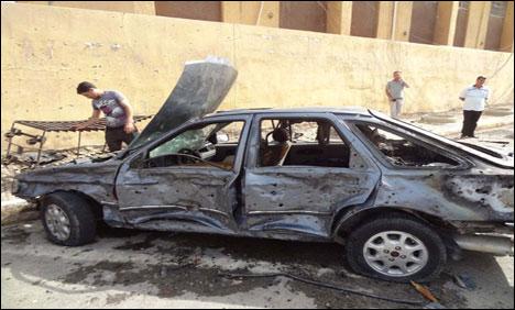 Recent car bomb in Kirkuk