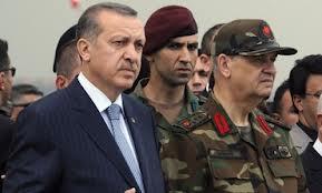 Turksh PM Erdogan with military