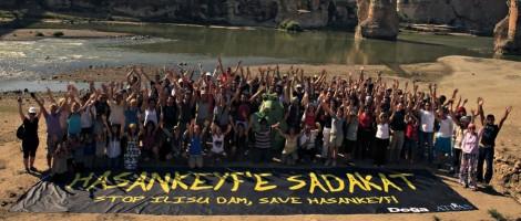 Hasankeyf protest; Photo - Damocracy