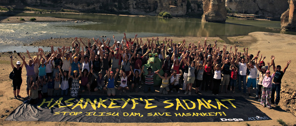 Hasankeyf protest; Photo - Damocracy