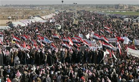 Sunni protest in Ramadi