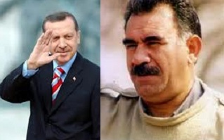 Turkey PM Erdogan; PKK leader Abdullah Ocalan