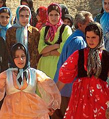 Women at a Kurdish wedding