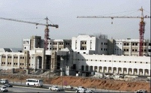 400-bed hospital, unfinished since mid-1990s