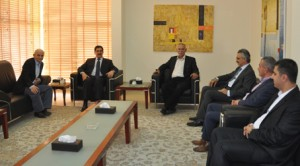 Fazil Mirani (KDP) and Mala Bahktyar (PUK) meet with Gorran leaders, including Nawshirwan Mustafa