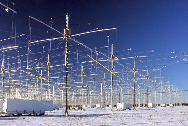 H.A.A.R.P. antennas, Alaska, bounce radio frequencies off the atmosphere to modify weather