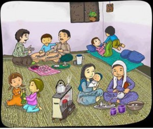 A typical Kurdish family
