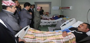 President Barzani visits victims in hospital