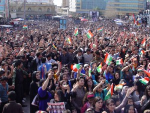 Protest in Kurdistan Region, February 2011