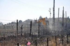 Wall under construction; Pic - Anatolia News Agency