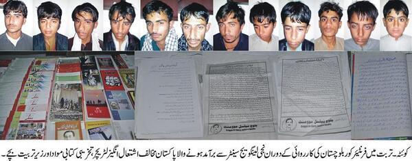 Baloch students arrested