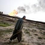 Man near oil field