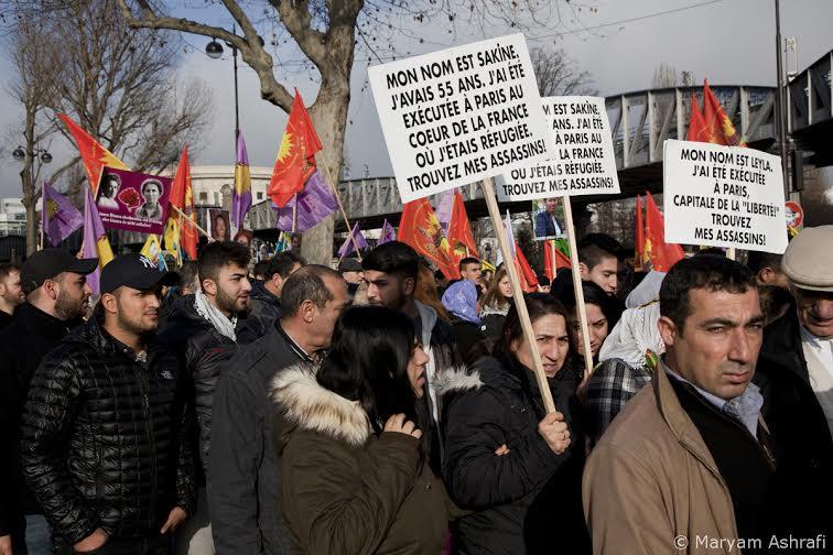 Paris 11/01/2014: One year one, Kurds demand justice