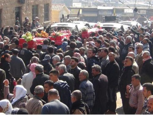 The funeral in Efrin (photo Rojava Report)