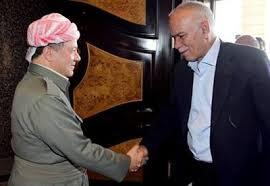 KDP leader & KRG president Masud Barzani with Gorran leader Nawshirwan Mustafa