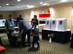 Iraqi Poll Station in Surrey BC, Canada; photo IKJNews