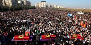 Diyarbakir funeral for slain Sakine Cansiz, Fidan Doğan, Leyla Söylemez