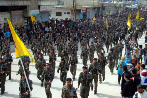 YPG fighters parade in Rojava