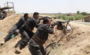 Kurdish pershmarga defend Kirkuk