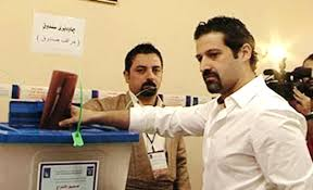 Qubad Talabani casts his vote for the PUK