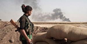 Kurdish YPJ  fighter; Photo - Rojava Report