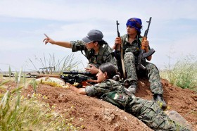 Rojava resistance fighters; Pic-Rojava Report
