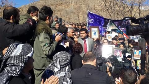 Selahattin Demirtaş at cemetery for Roboski victims on second anniversary of massacre
