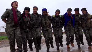 YPJ fighters enjoying some respite from their heroic struggle