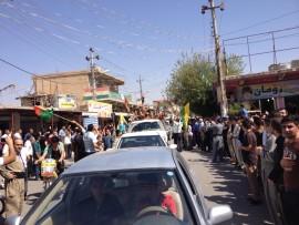 YRK convoy on way to the frontline, Pic: Karwan Zagros