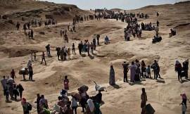 Yazidi Kurd refugees