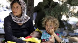 Yazidi refugees; Pic - BBC