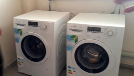 The laundry room will have 12 new washing machines