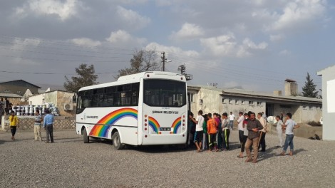 Belediyesi free bus takes people into Sirnak once a day