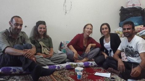 Antonio, Alesandra, Amy, Adib, Farhan in Sirnak Ezidi commune