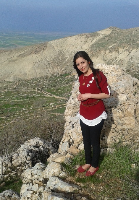Adib on Mount Shingal (Sinjar) overlooking her home town