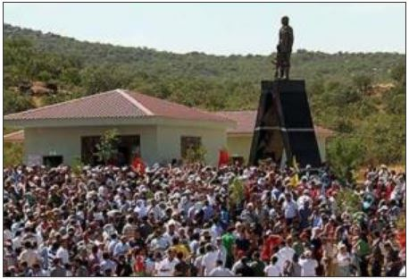 August 15, 2014, Citizens erect statue of Kurdish leader Agit