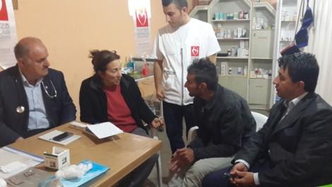 Dr. CengizhanUysal, Amy Beam, medic Diler Havend, Farhan Mahlo interpreter