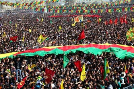 Kurds celebrate Newroz, Kurdish New Year, March 21, in Diyarbakir, Kurdish capital with population of 1.6 million.