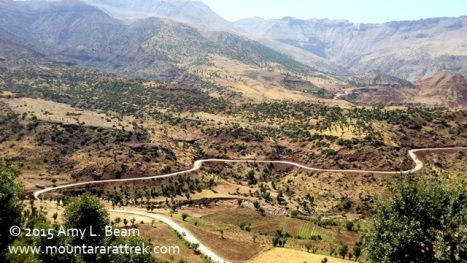 Take a 3-hour scenic drive through mountains on new road, Siirt to Sirnak.