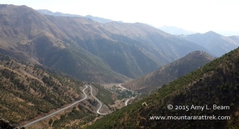 Miles of empty, winding, new road between Hilal and Hakkari.