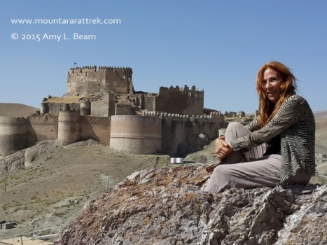 Amy Beam at Hosap Castle, en route from Hakkari to Lake Van.