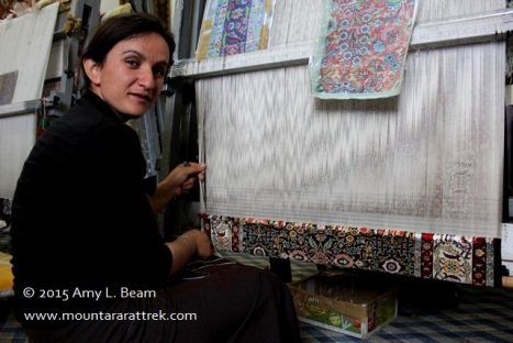 Carpets and kilim are made on-site at Urartu carpet center.