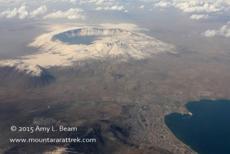Nemrut Crater in the winter on the west coast of Lake Van.