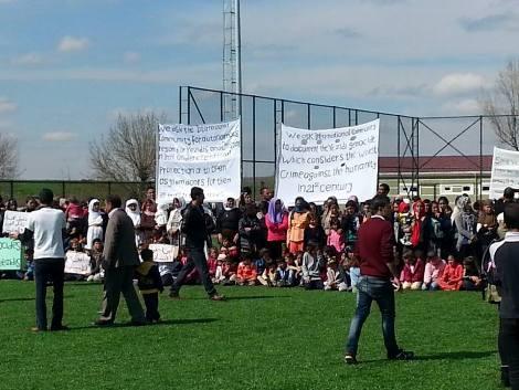 Diyarbakir Fidanlik Park camp, Turkey; 3500 Yazidis