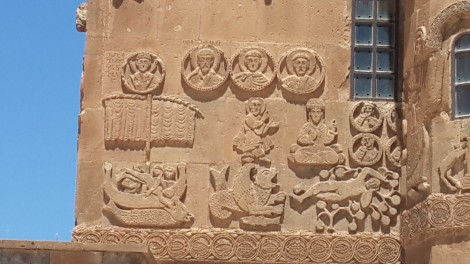 Bas-relief stone carvings of Biblical stories